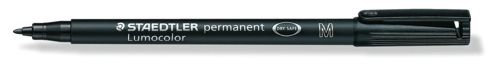 Staedtler Lumocolor Permanent Pen Medium 1.0mm Line Black Ref 317-9 [Pack 10]