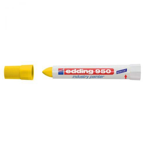 Edding 950 Industry Painter Bullet Tip 10mm Yellow Ref 4-950005 [Pack 10]