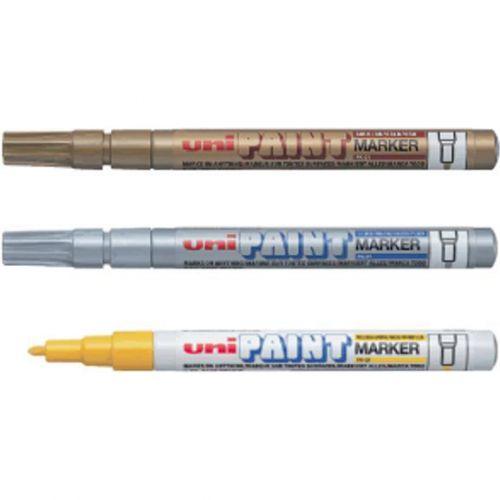 uni Paint Marker Bullet Tip Fine Point Px21 Line Width 0.8-1.2mm Silver Ref 558742000 [Pack 12]