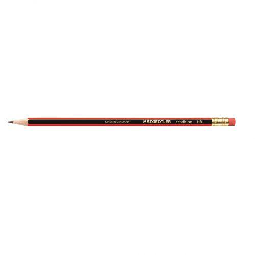 Staedtler 110 Tradition Pencil Cedar Wood with Eraser HB Ref 112HBRT [Pack 12]