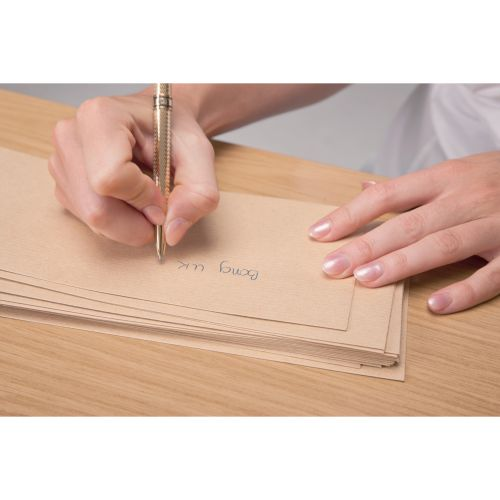 New Guardian Envelopes Lightweight Pocket Press Seal Window 80gsm Manilla DL [Pack 1000]