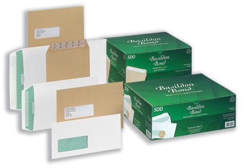 Basildon Bond Envelopes Pocket Peel and Seal 120gsm White C4 [Pack 250]