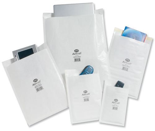 Jiffy Airkraft Postal Bags Bubble-lined Peel and Seal No.00 White 115x195mm Ref JL-00 [Pack 100]