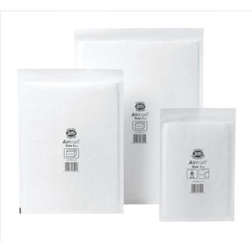 Jiffy Airkraft Postal Bags Bubble-lined Peel and Seal No.7 White 340x445mm Ref JL-AMP-7-10 [Pack 10]