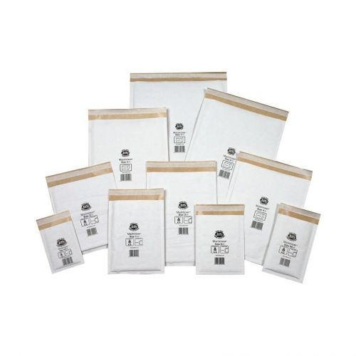 Jiffy Mailmiser Protective Envelopes Bubble-lined No.2 White 205x245mm Ref JMM-WH-2 [Pack 100]