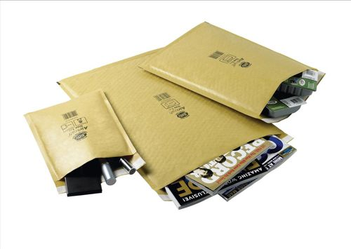 Jiffy Airkraft Bubble Bag Envelopes No.7 Gold 340x445mm Ref JL-GO-7 [Pack 50]
