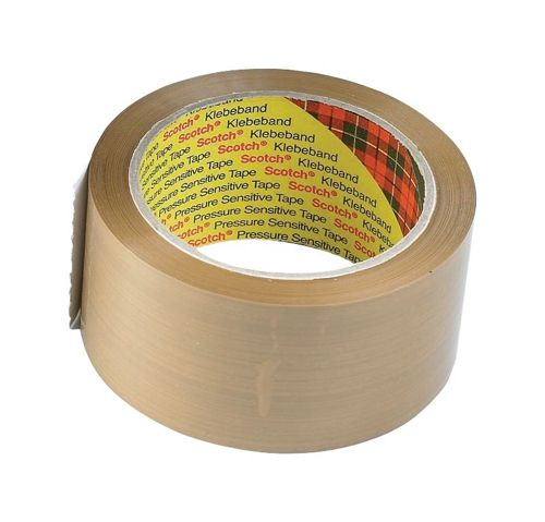 Scotch Classic Packaging Tape W50mmxL66m Buff Ref CL5066F6B [Pack 6]