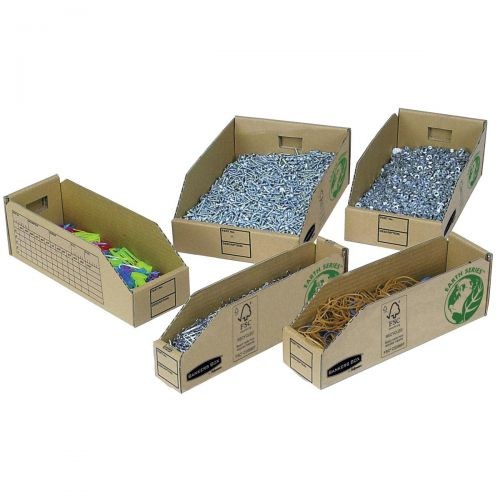Bankers Box by Fellowes Parts Bin Corrugated Fibreboard Packed Flat W98xD280xH102mm Ref 07353 [Pack 50]