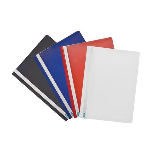 Elba Report File Capacity 160 Sheets Clear Front A4 Red Ref 400055038 [Pack 25]