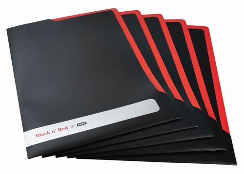Black n Red by Elba L Folder Polypropylene Ref 400051533 [Pack 5]