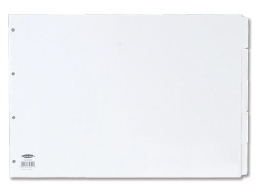 Concord Subject Dividers 150gsm Punched 4 Holes 5-Part A3 White Ref 79801/98