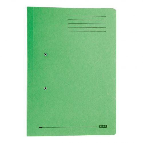 Elba Stratford Transfer Spring File Recycled Pocket 320gsm 36mm Foolscap Green Ref 100090147 [Pack 25]