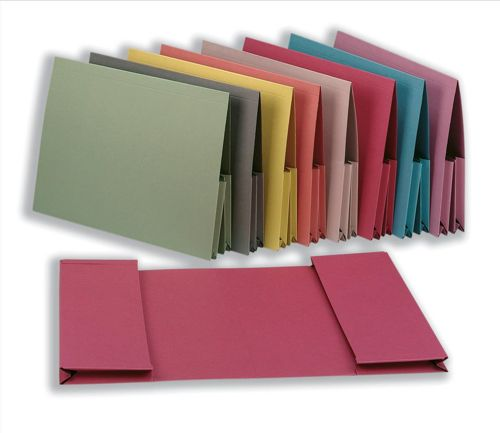 Guildhall Legal Wallet Double Pocket Manilla 315gsm 2x35mm Foolscap Buff Ref 214-BUFZ [Pack 25]