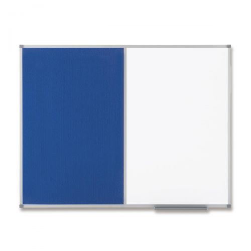 Nobo Classic Combination Board Magnetic Drywipe and Felt W900xH600mm Blue Ref 1902257
