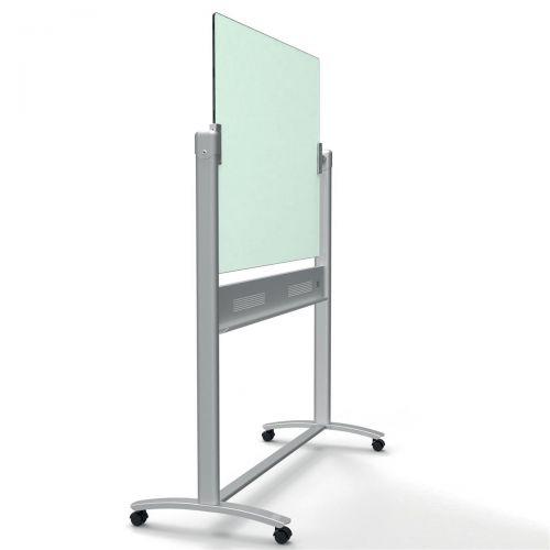 Nobo Diamond Whiteboard Mobile Glass Magnetic Horizontal Pivot 900x1200mm Ref 1903943