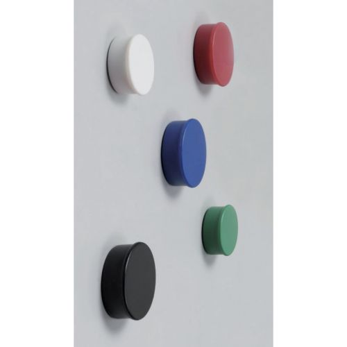 Nobo Magnet Markers Round Plastic Diameter 20mm Assorted Ref 1901016 [Pack 10]