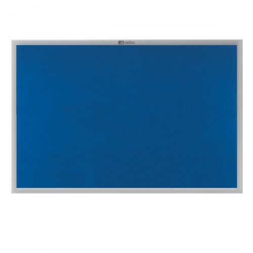 Nobo Euro Plus Noticeboard Felt with Fixings and Aluminium Frame W1226xH918mm Blue Ref 30230175