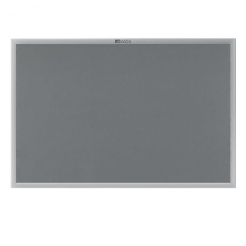 Nobo Euro Plus Noticeboard Felt with Fixings and Aluminium Frame W1226xH918mm Grey Ref 30230158