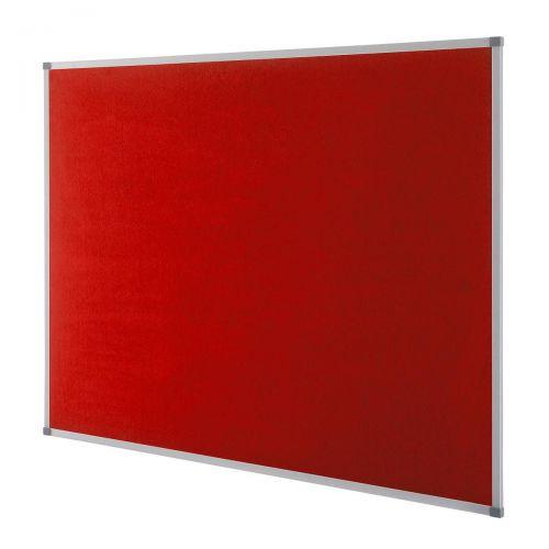 Nobo Classic Noticeboard Felt with Aluminium Frame W900xH600mm Red Ref 1902259