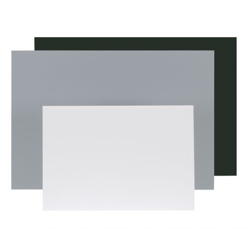 Display Board Lightweight Durable CFC Free W597xD5xH840mm A1 Black and Grey [Pack 10]