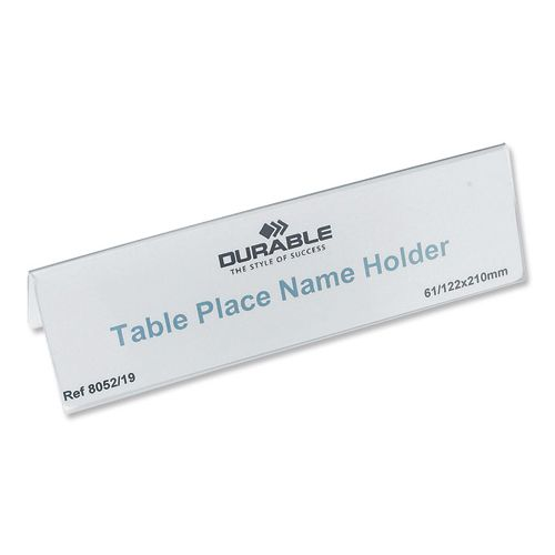 Durable Inserts for Duraprint Table Place Name Holder 61x210mm Ref 1460 [Pack 20]