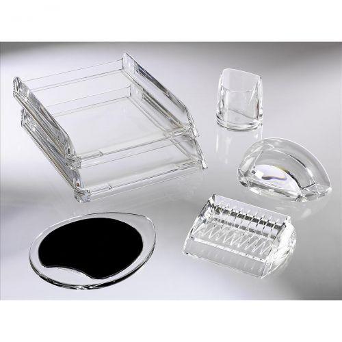 Rexel Nimbus Pencil Cup Acrylic Large Clear Ref 2101502