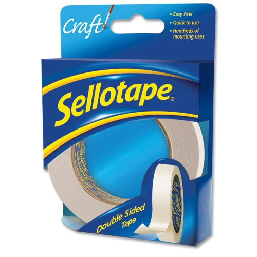 Sellotape Double-sided 50mmx33m Ref 1447054 [Pack 3]