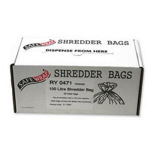 Robinson Young Safewrap Shredder Bags 100 Litre Ref RY0471 [Pack 50]