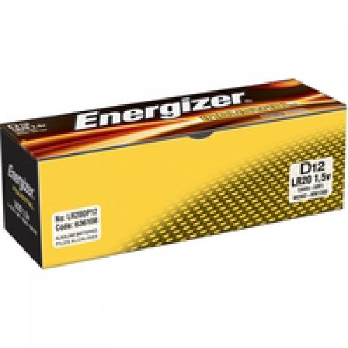 Energizer Industrial Battery Long Life LR14 1.5V C Ref 636108 [Pack 12]