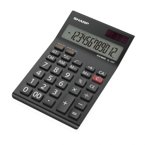 Sharp EL124TWH Calculator Desktop Ref EL124TWH