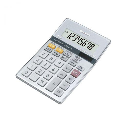 Sharp Calculator Euro Desktop Battery Solar-power 8 Digit 100x152x15mm Ref EL330ERB