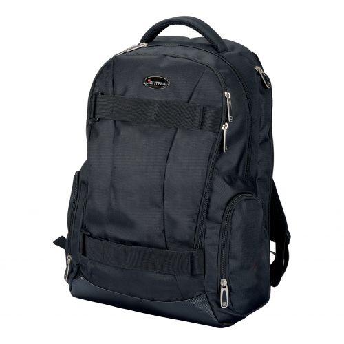 Lightpak Laptop Backpack Padded Nylon Capacity 17in Black Ref 24603