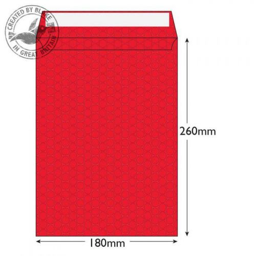 Purely Packaging Envelope P&S 260x180mm Bubble Envolite Black Ref KRD260 [Pk 100] *3 to 5 Day Leadtime*