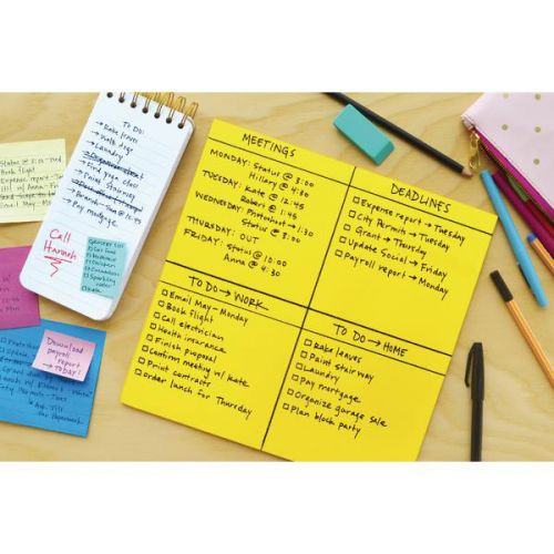 Post-it Super Sticky Dry Erase Sheets Self-adhesive Stain-proof 560x560mm Green Ref BN22-EU [30 Sheets]