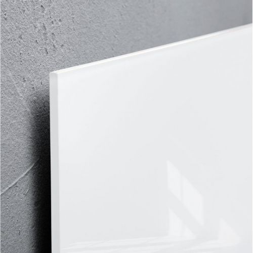 Sigel Artverum Tempered Glass Magnetic Board with Fixings 1300x550mm White Ref GL241