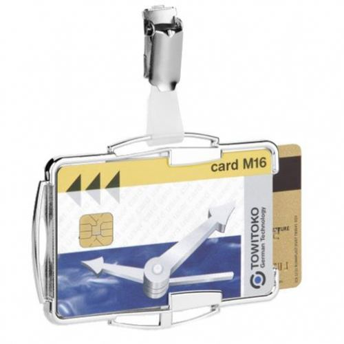 Durable Security Card Holder RFID for Two Cards Silver Ref 890223 [Pack 10]