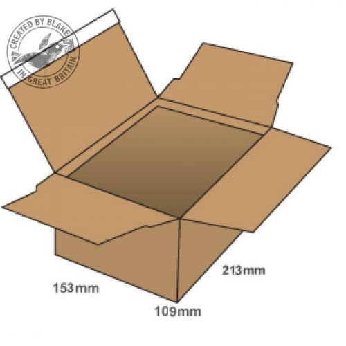 Blake Purely Packaging Postal Box P&S 213x153x109mm Kraft Ref PEB20 [Pk20] *3 to 5 Day Leadtime*