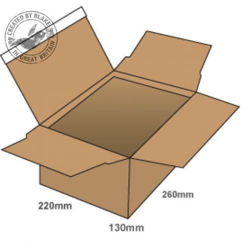 Blake Purely Packaging Postal Box P&S 260x220x130mm Kraft Ref PEB33 [Pk20] *3 to 5 Day Leadtime*