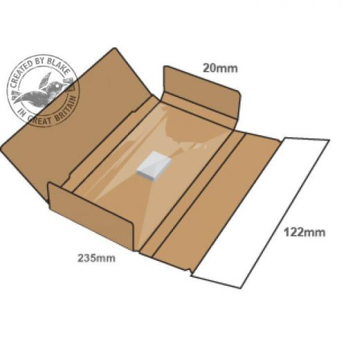 Blake Purely Packaging SSPostal Box P&S Tamper Evident 235x122x20mm Ref PSB10 [Pk20]*3 to 5 Day Leadtime*
