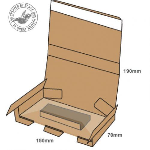 Blake Purely Packaging SSPostal Box P&S Tamper Evident 190x150x70mm RefPSB300 [Pk20]*3 to 5 Day Leadtime*