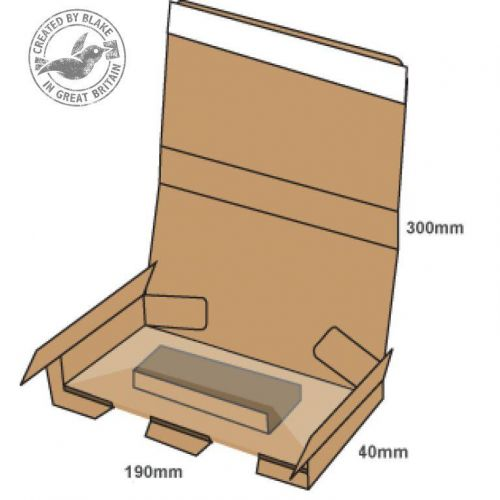 Blake Purely Packaging SSPostal Box P&S Tamper Evident 300x190x40mm RefPSB500 [Pk20]*3 to 5 Day Leadtime*