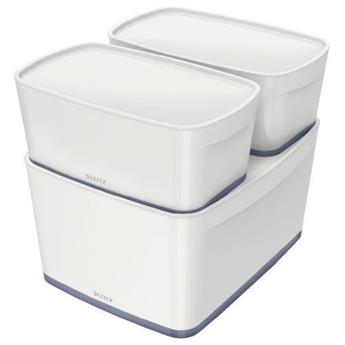 Leitz MyBox Storage Tray White and Gray Ref 52571001
