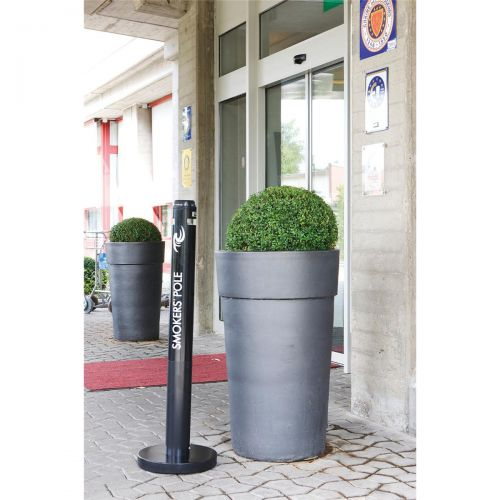 Smokers Pole Ash Bin Aluminium Weather Resistant Height 1041mm