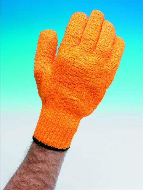 Knitted Grip Gloves [Pair] High Grip PVC Lattice One Size