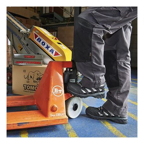 Rockfall Maine Trainer Fibreglass Toecap & Flexi-Midsole Size 10 Blk/Silv Ref TC130-10 *5-7 Day L/Time*