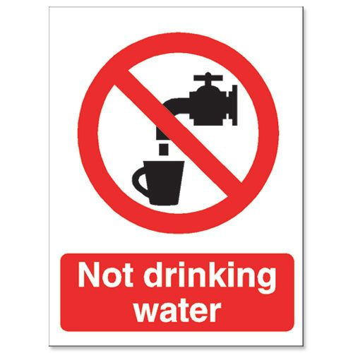 Stewart Superior Catering Sign Not Suitable for Drinking Self Adhesive Vinyl W150xH200mm Ref P093