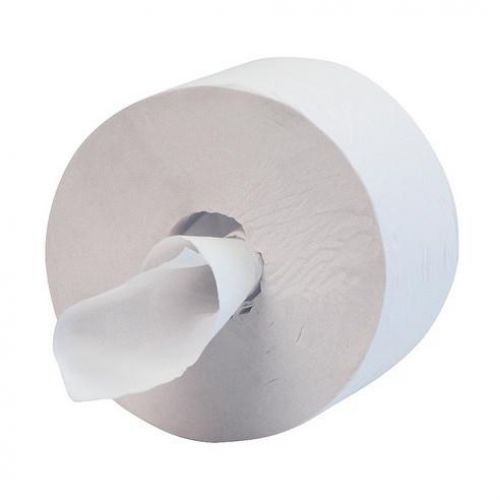 Hostess Midi Jumbo 400 Toilet Tissue Roll 1000 Sheets 1-Ply 400x90mm White Ref 8613 [Pack 12]