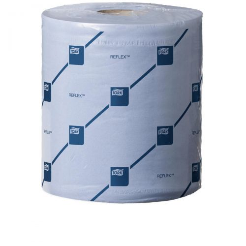 Tork Reflex Wiper Roll 2-Ply 429 Sheets of 194x150mm Blue Ref 473263 [Pack 6]