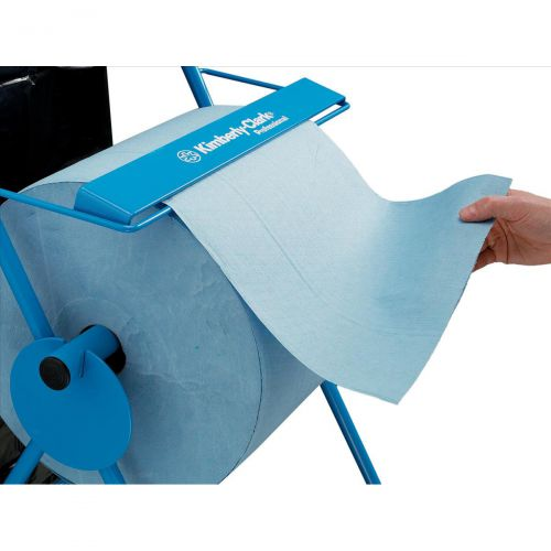 Mobi Roll Dispenser with Serrated Cutter Tubular Frame 2 Wheels for Industrial Cleaning Towel Ref C01848