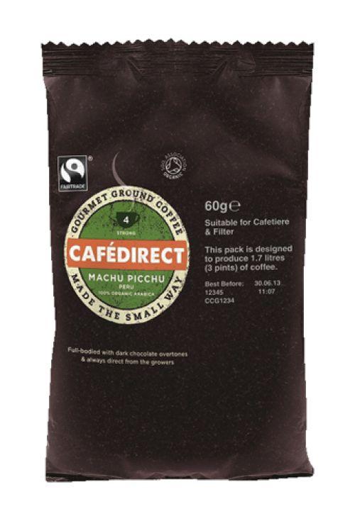 Cafe Direct Machu Pichu Peruvian Filter Coffee 60g Sachet Ref FCR1011 [Pack 45]